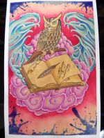 Owl parting the red sea by Agreus