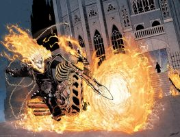 Ghost Rider! Colors-Doug Garbark Lines-Kenneth loh by DougGarbark