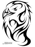 Tribal Eagle Head by blackbutterfly006