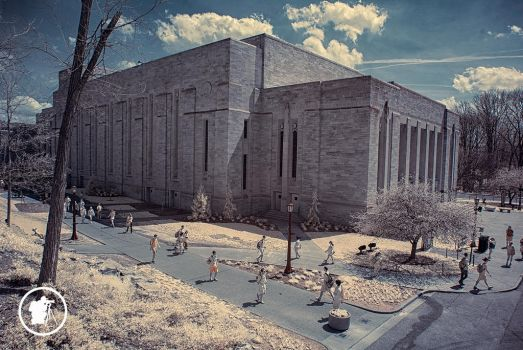 Infra Red IU Auditorium Bloomington, IN by DARRYL-SMITH