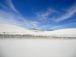 Blue Sky, White Sand by SharPhotography