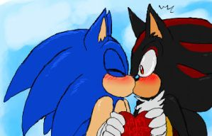 Valentine's Day - Sonadow by WhiteRaven4