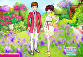 Red White Couple Fashion by willbeyou