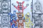 The Gang of Four (FNAF World) by SammfeatBlueheart