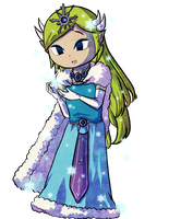 Winter Zelda by Icy-Snowflakes