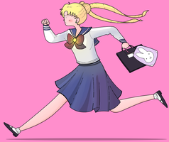 Screencap redraw: Sailor Moon by ice-cream-skies