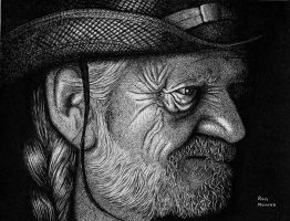 Willie Nelson by ronmonroe
