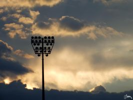 The Sunset in a Stadium by Carnaga