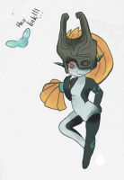 Midna Pinup Colored by Super-Cat202