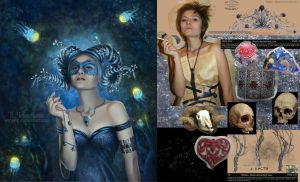 girl-Faun. before-after. by veravik