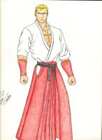 Geese Howard colored by dagame2578