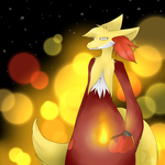 Akari The Delphox by Monochrome-Melody