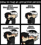 How to hug an attractive person by KuuHukka