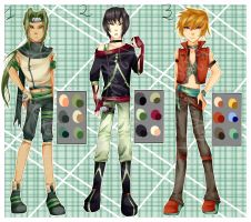 Naruto Boys Set 1- CLOSED by Angelique-Adopts