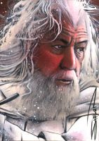 Gandalf Sketch Card 2 by RandySiplon