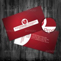 Red Business Card by ARphotography-design