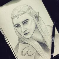 Thranduil [by pencil] by pykyubi