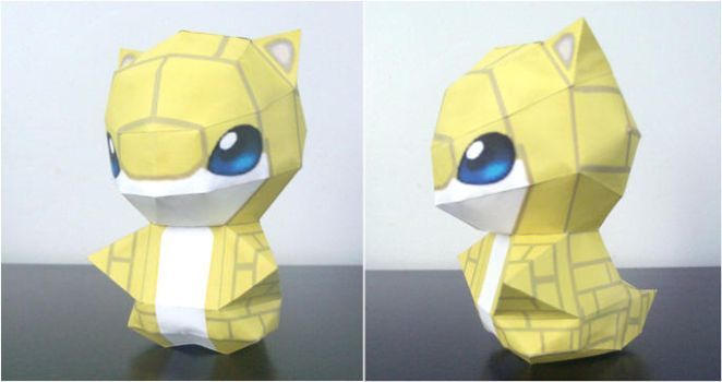 Sandshrew Chibi papercraft by P-M-F
