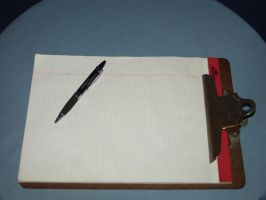 Clipboard and Pen by nitch-stock