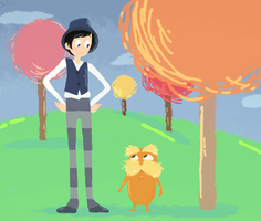 Dr. Seuss's The Lorax fanart. by DaRainbowGurl