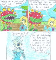 Petey and Rosalina watch Frozen by Mothralina95