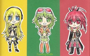 Lily, Gumi, and CUL by TravelingGiraffe