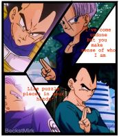 Vegeta and Trunks - In Pieces by BeckstMirk