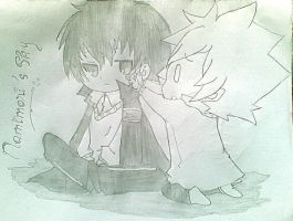 Hibari and Tsuna by ChiakiSoul