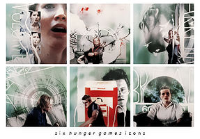 Hunger Games Icons by broken-halves