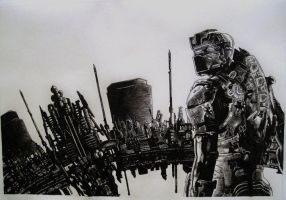 Dead space 2 drawing by Chriluke