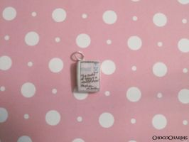 The Perks of Being a Wallflower Book Charm by ichigoluv