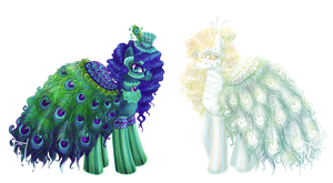 Peacock sisters adoptable auction :CLOSED: by MaGeXP