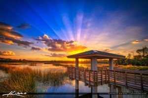 Winding-Waters-Natural-Area-Sunset-at-Boardwalk-ov by CaptainKimo