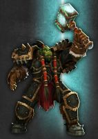 Thrall and Doomhammer by 31883milesperhour