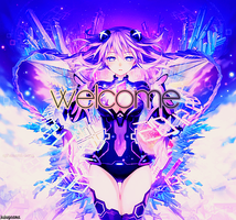 Hyperdimension Neptunia V welcome banner by jujugasm