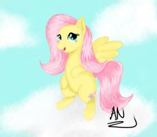 MLP: Fluttershy in the Clouds by x6tr2ni