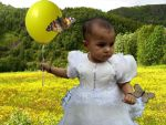 baby with balloon by skippymyboy