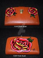 Traditional Rose Tattoo Purse by Vicki-Death