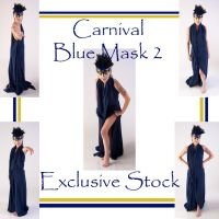 Carnival Blue Mask 2 Exclusive by WhiteWing-Stock-EtAl
