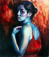 Self Portrait in Blue by Lillithia