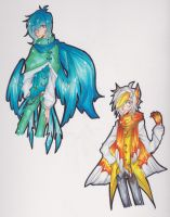 [[ Offer to Adopt ]] Bird and Butterfly -CLOSED- by Forkilicious