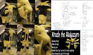Krush the Alakazam Fursuit by murkrowzy