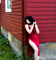 Look around the corner- Ada Wong Cosplay by FreakedOutPencil