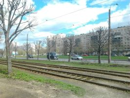 The tram rails by Dream-tyan