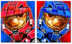Halo Red vs Blue by Chasezephyr
