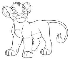 Simba Lineart by Panther85