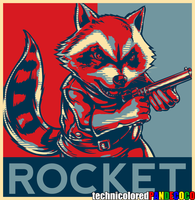 Rocket Raccoon by jokerjester-campos