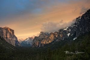 Sunset Over Yosemite by o0oLUXo0o