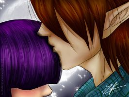 forhead kiss by srs17