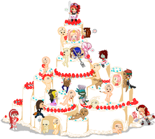 Doll Collab : Let Us Eat Cake by VanillaKnight